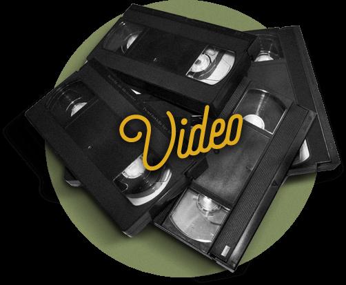 Obraz przedstawiający digitalizację kaset vhs na dvd